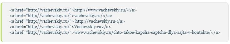 анкоры с адресом сайта
