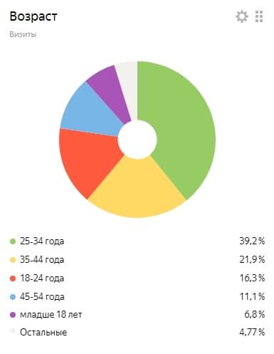 параметры аудитории сайта