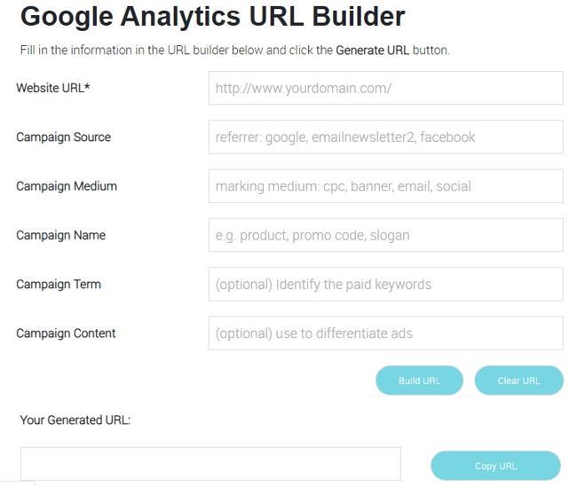 UTM генератор - Online UTM Tracking Code Builder