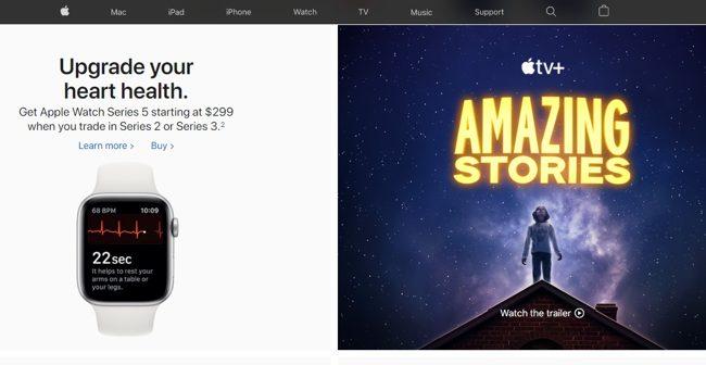 Сайт компании Эппл