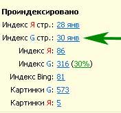 проверить индексацию сайта в гугле
