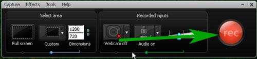 как записать видео с экрана монитора со звуком