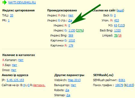 Яндекс перестал индексировать сайт