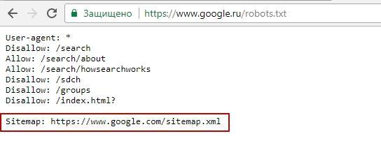 ссылка в robots.txt